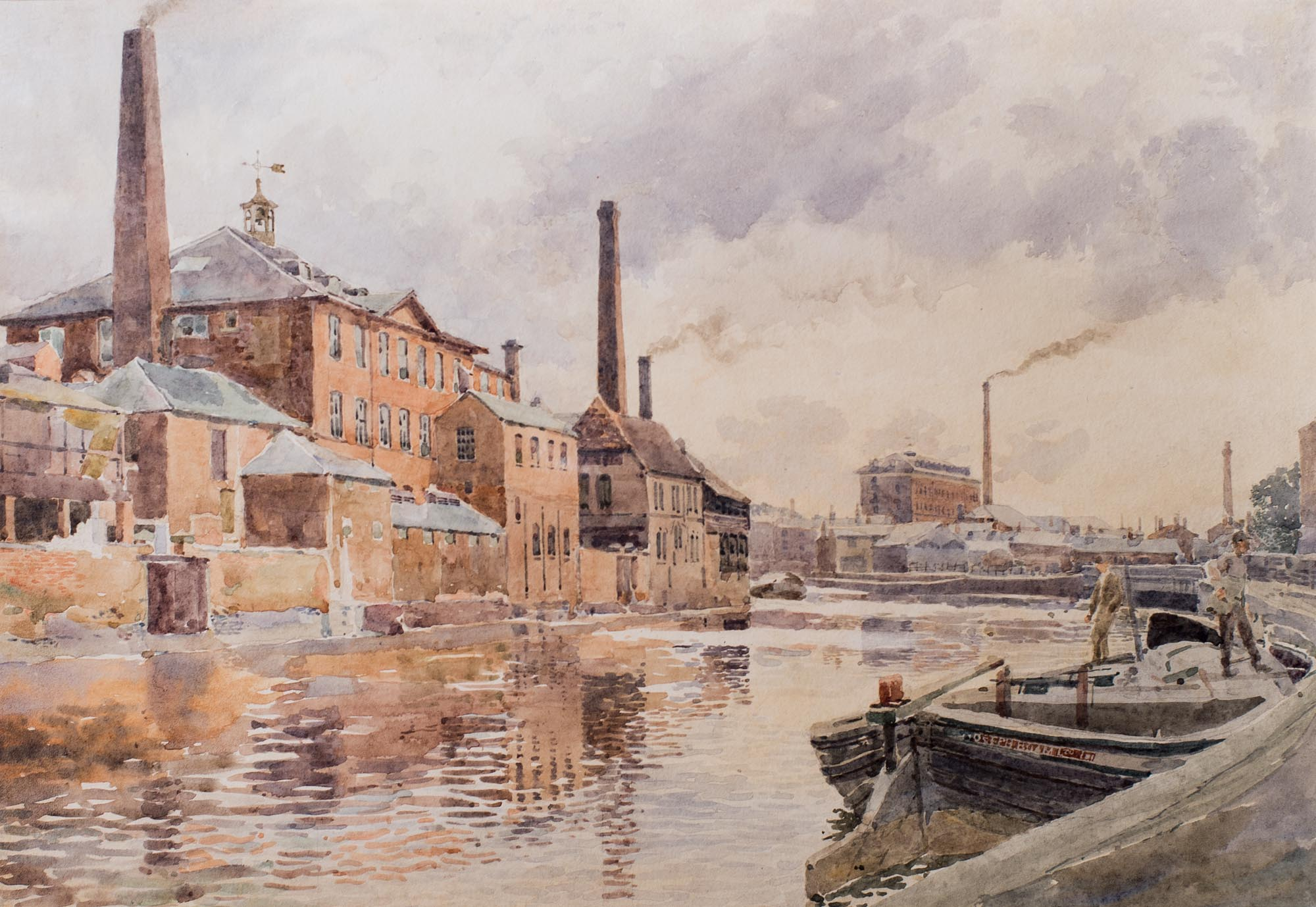 George M Henton Old Factories On The Canal