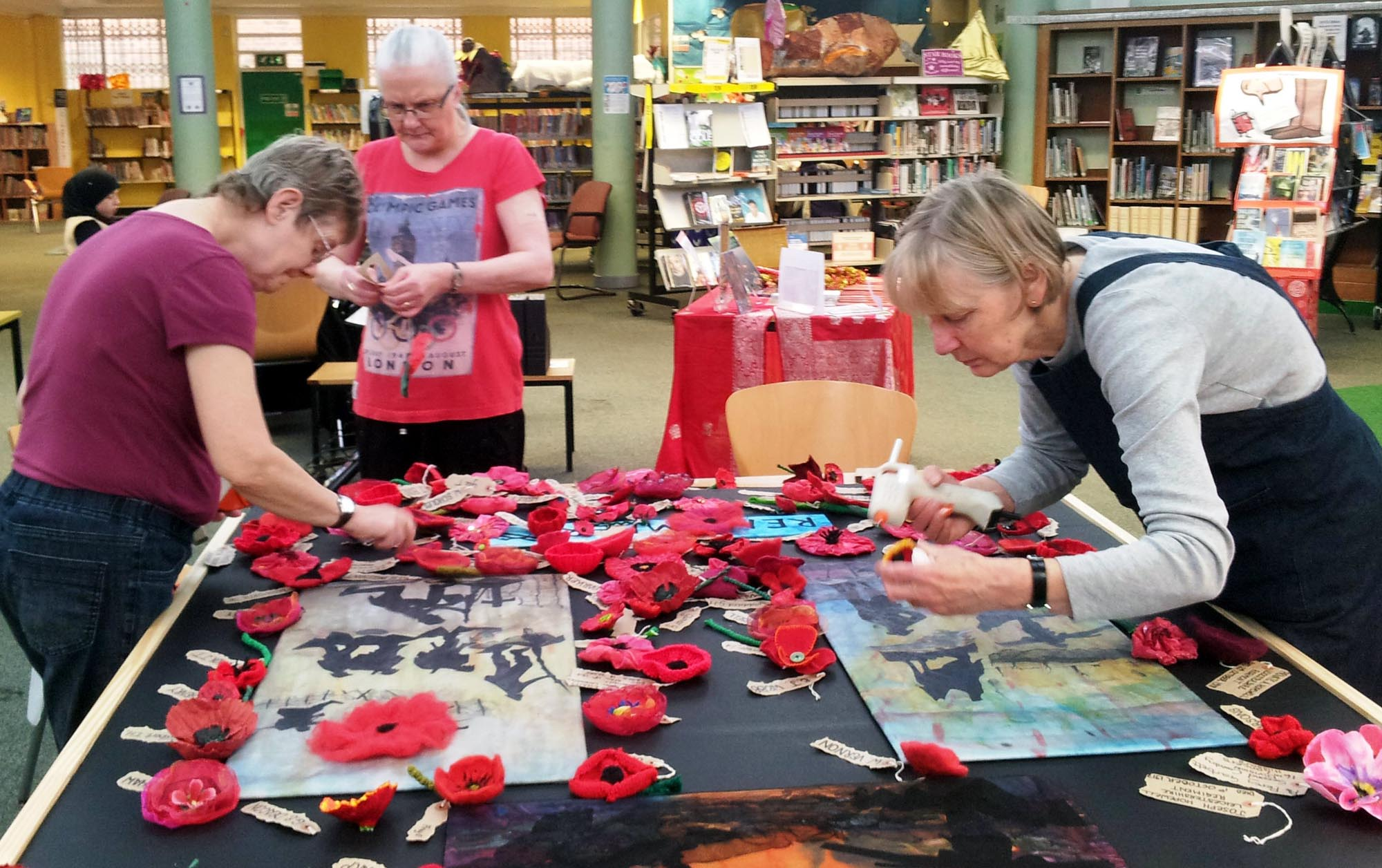 Working on the poppy commemoration